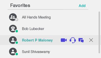 Favorites feature Lifesize App