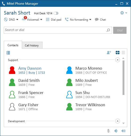 Phone Manager Desktop - Mitel CRM integration