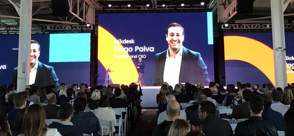 Tiago Paiva during the Opentalk18 Keynote