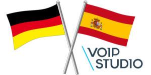 VoipStudio Spanish German