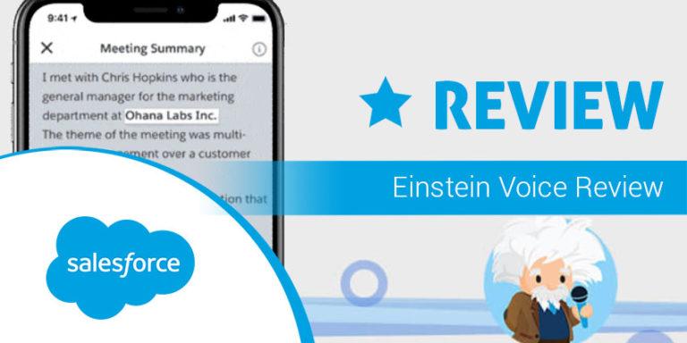Salesforce Einstein Voice review