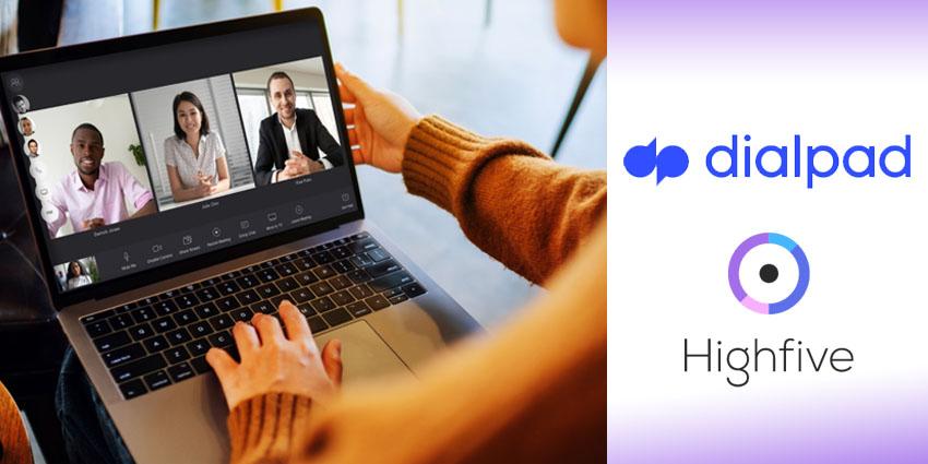 Highfive dialpad online town hall meeting