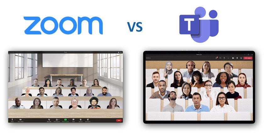 Zoom Immersive Scenes vs Microsoft Teams Together Mode