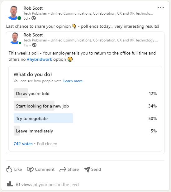 Rob Scott Hybrid Work Survey