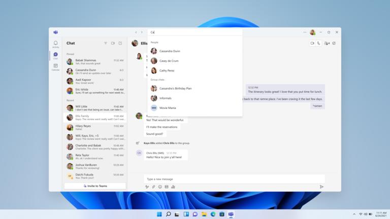 Microsoft Teams redesign Windows 11