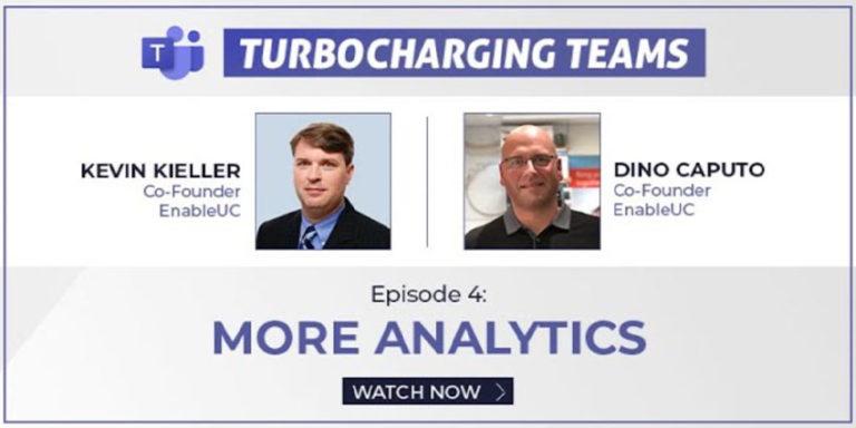 Turbocharging Teams Episode 4 - More Analytics