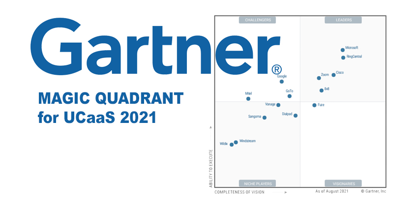 Gartner UCaaS Magic Quadrant 2021 Revealed